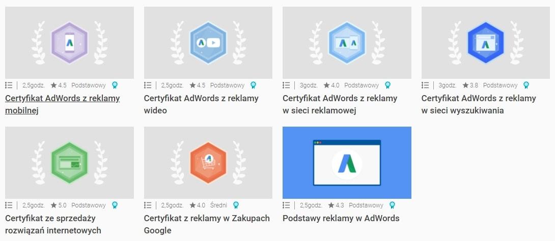 adacemy-for-ads-certyfikaty