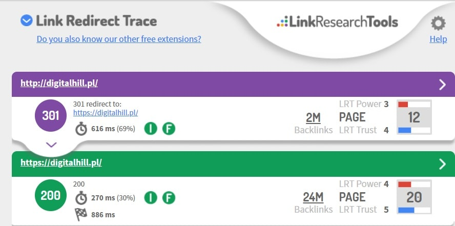 link-redirect-trace