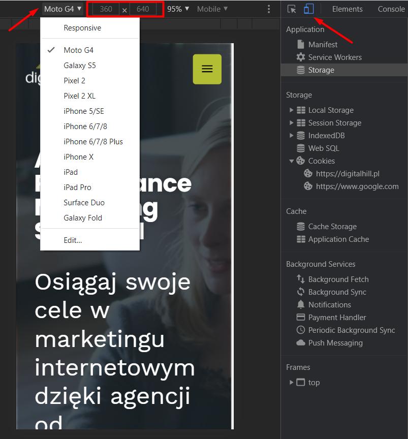 Chrome DevTools - wizualizacja 2