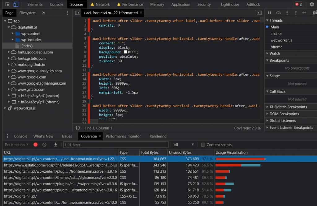 Chrome DevTools - wizualizacja 8