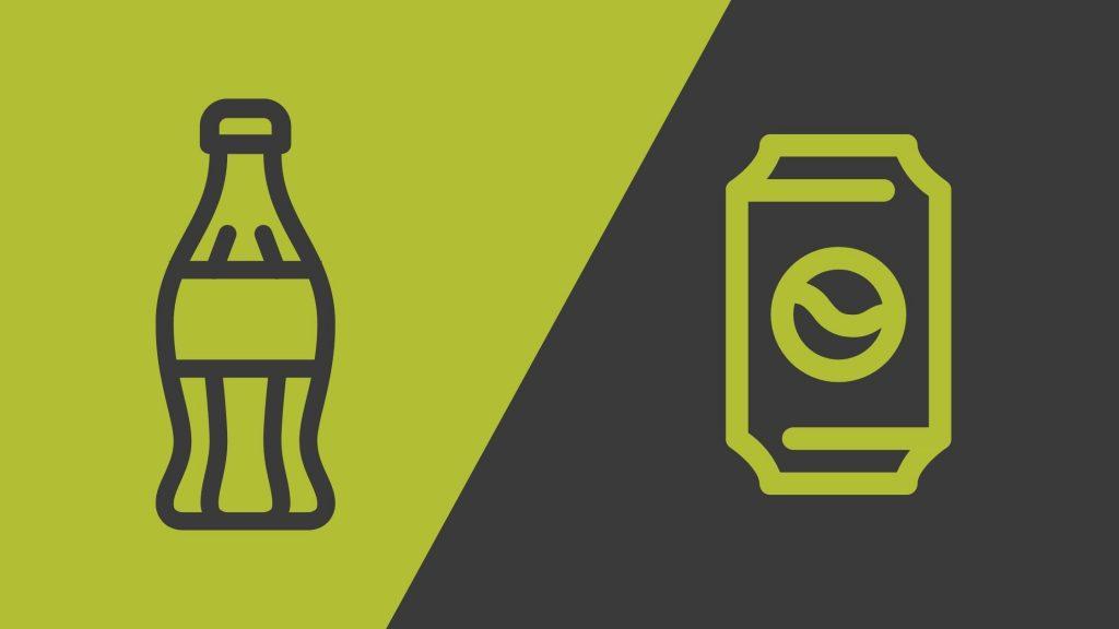 butelka i puszka